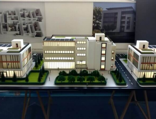 Office Buildings Scale Model