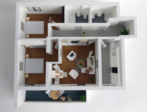 Detailed Floor Plan Model – Three room Apartment