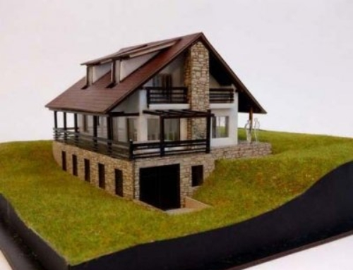 Scale model of a house
