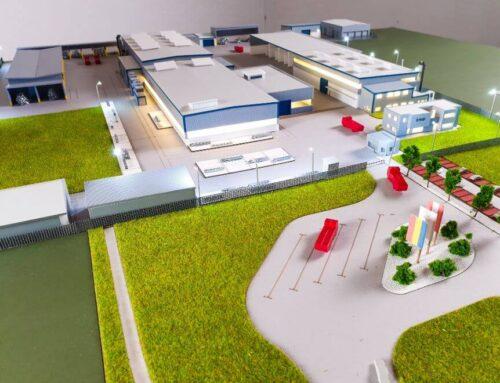 Architectural model for a factory