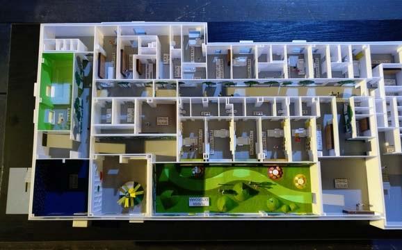 Detailed Floor Hospital Scale Model