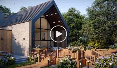 Villa 3D animation