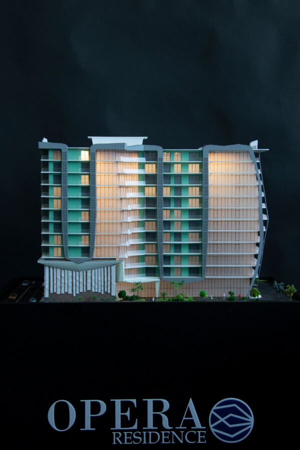 Apartment Building Model Residence
