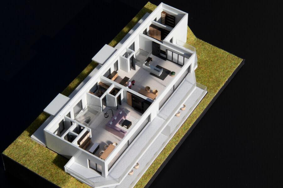 Demountable House Scale Model