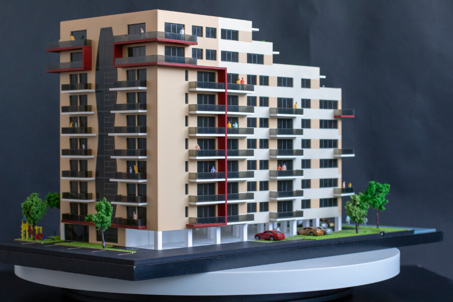 Residential Building Model For Real Estate Display