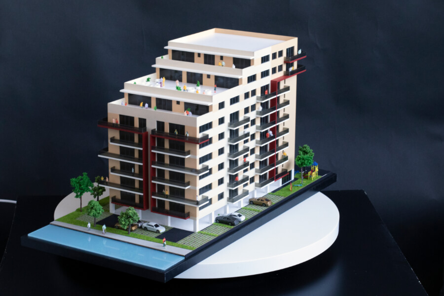 Residential Building scale Model For Real Estate