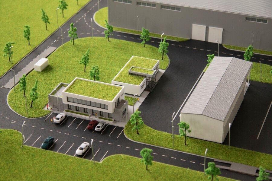 Sewage Treatment Plant scale model