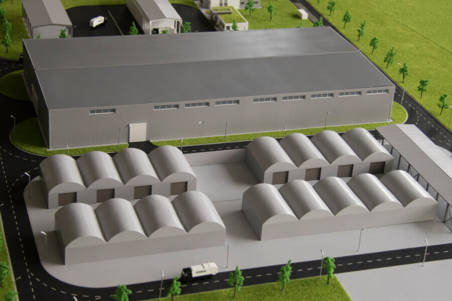 Wastewater Treatment Plant scale model