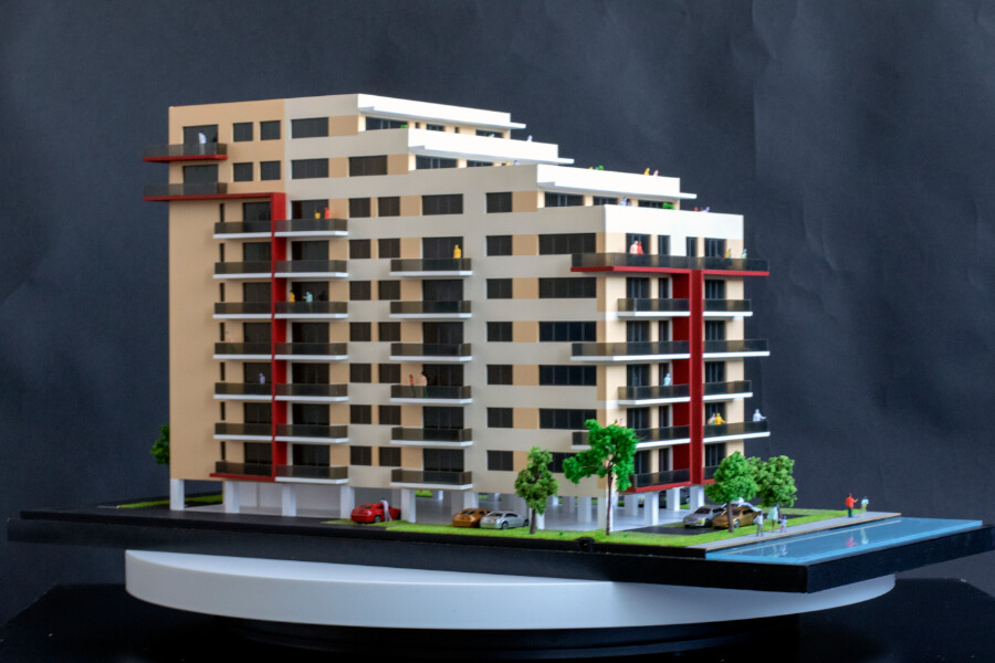 architectural scale model building