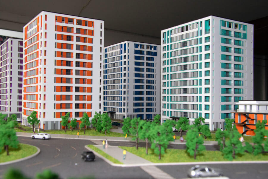 scale models of proposed construction projects