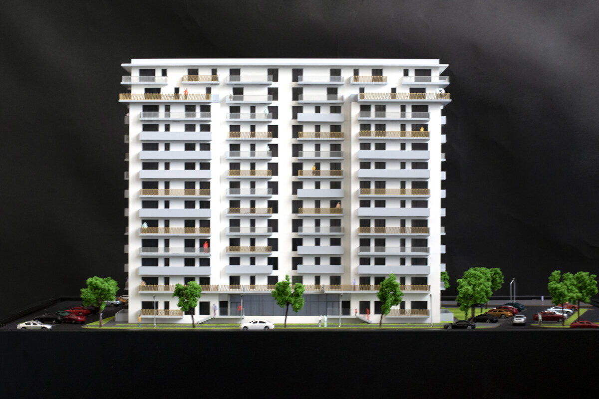 apartment building model