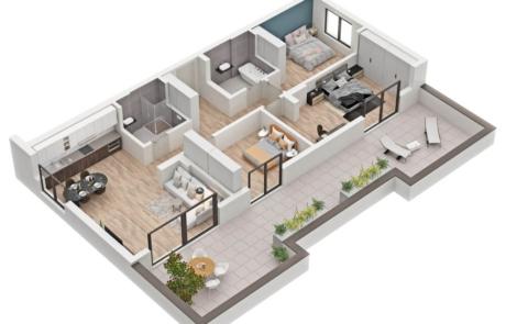 3D Rendering for Floor Plans
