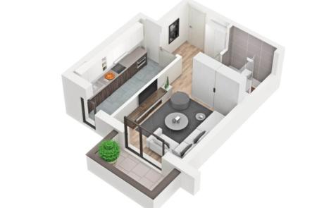 apartament 3d rendering