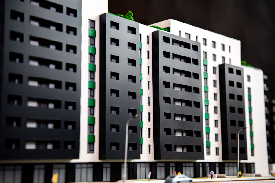 scale model of residential building