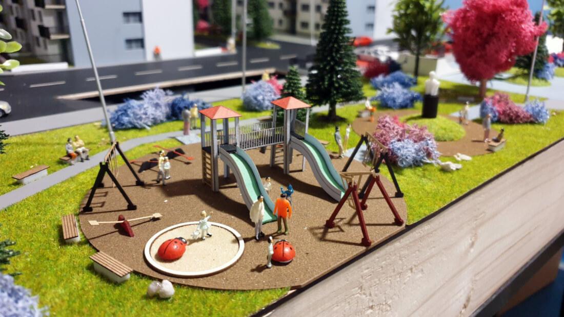 3d park scale model