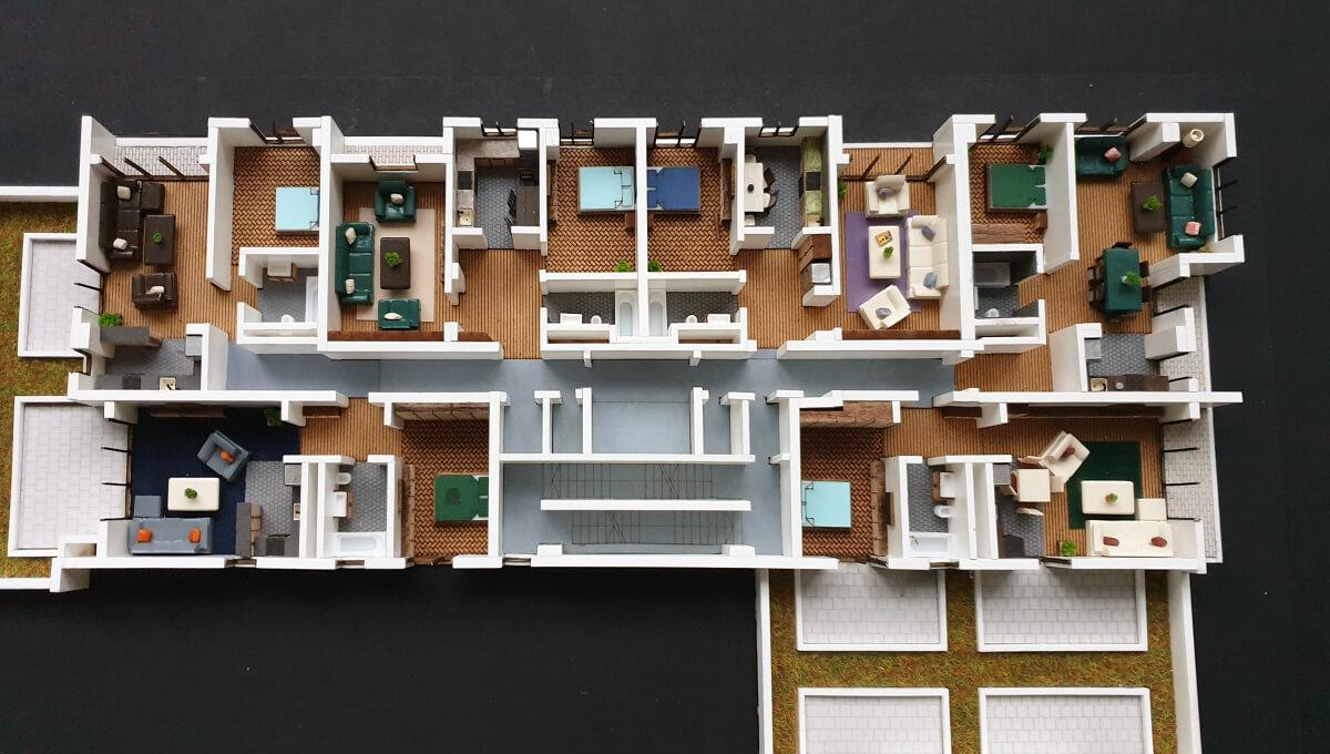 Interior Scale Model Building