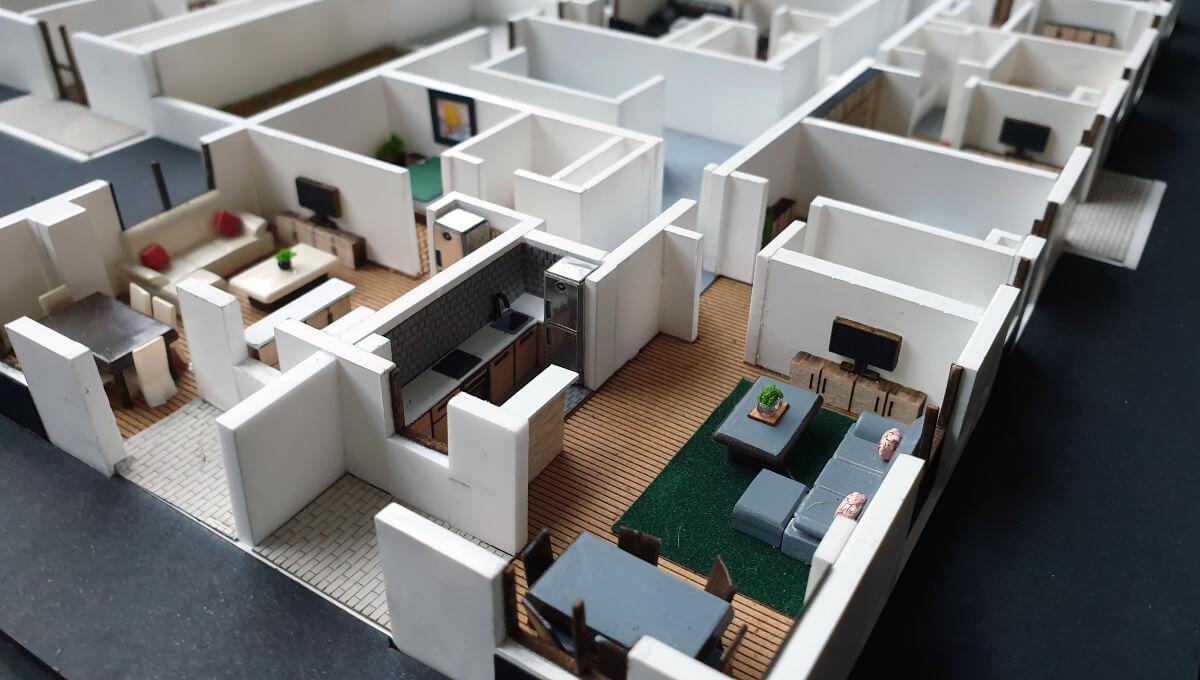 floor 3d scale model