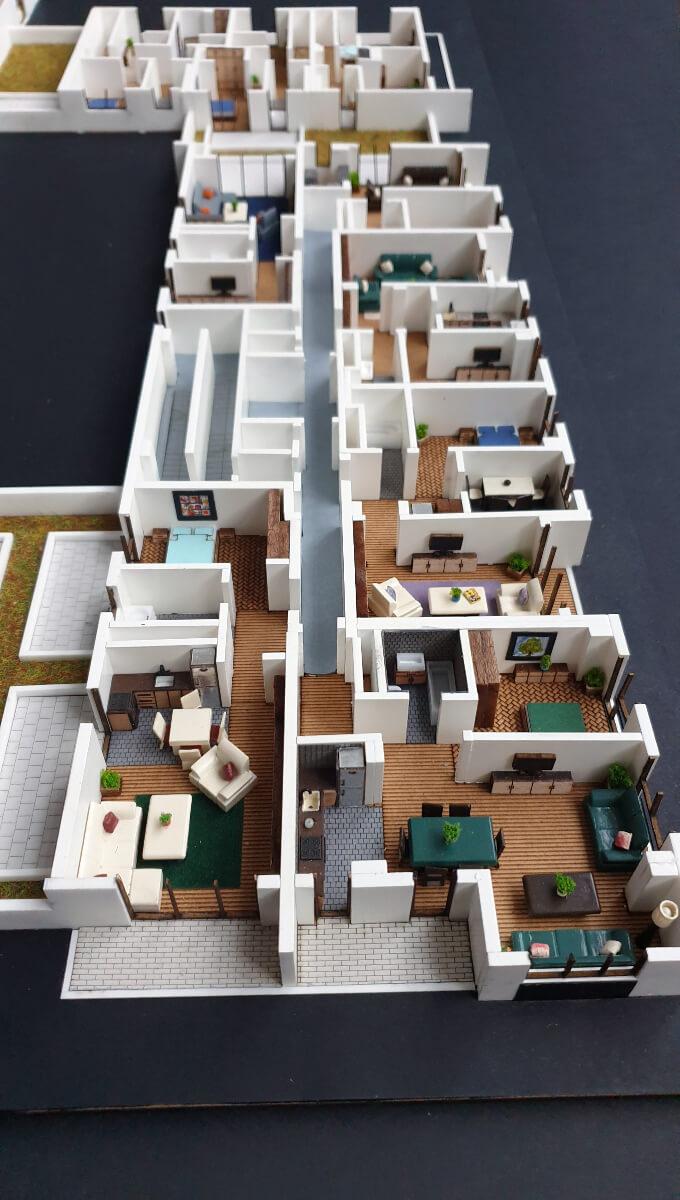 floor plan 3d scale model