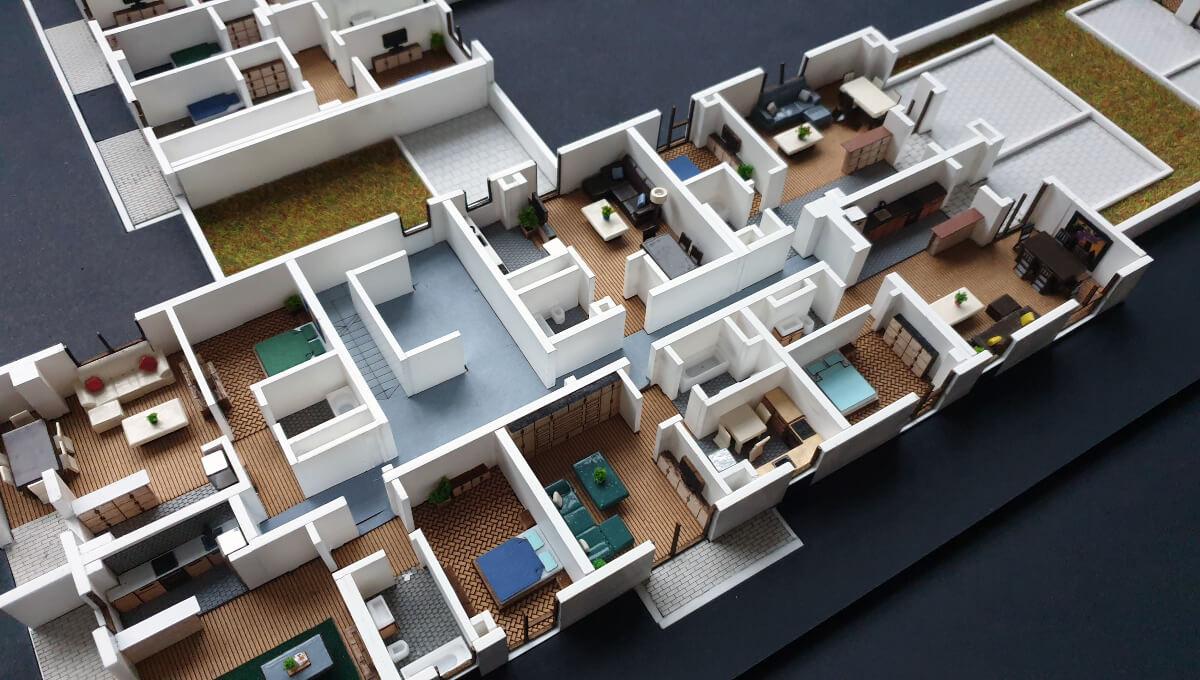 floor plan scale model