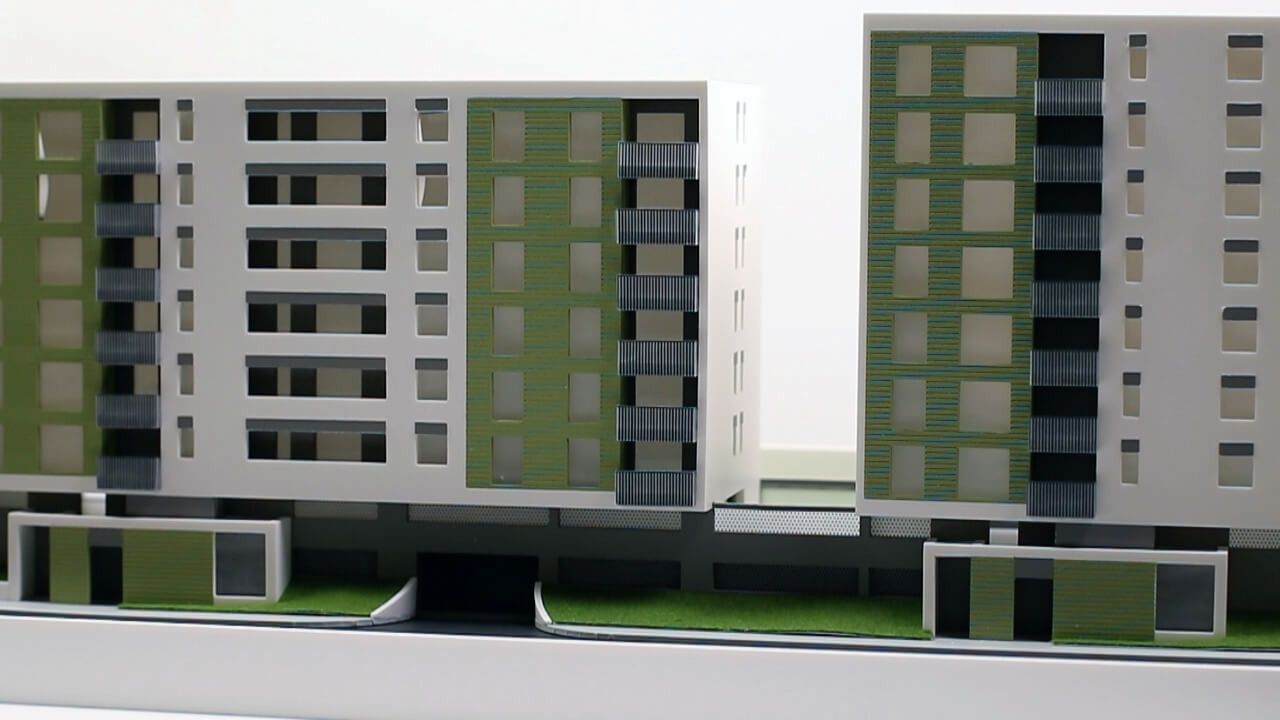 Architectural Scale Model Residential Complex