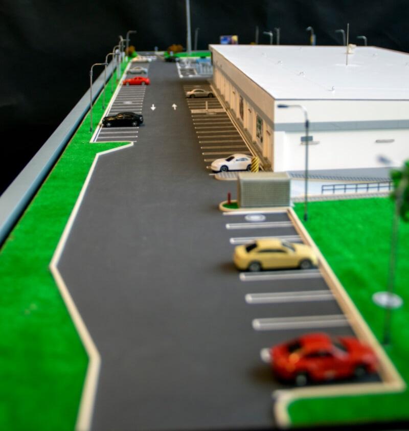 Supermarket 3D scale model