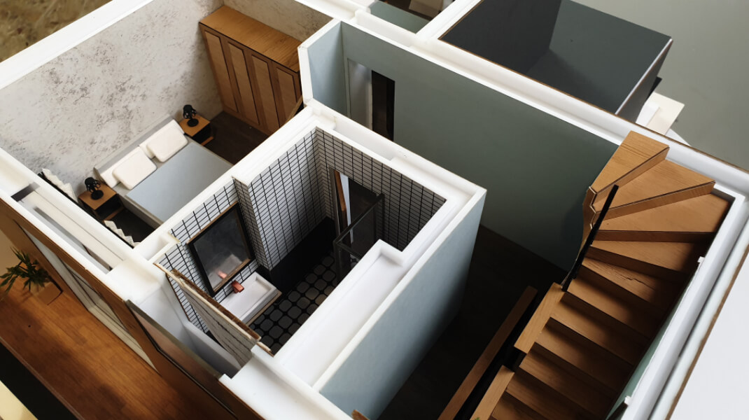 scale model building interiors