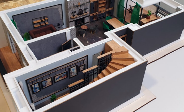 scale model house interiors
