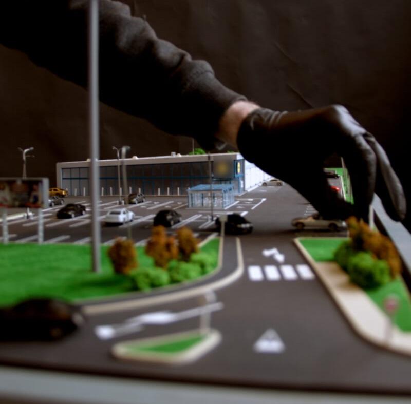 scale model of supermarket