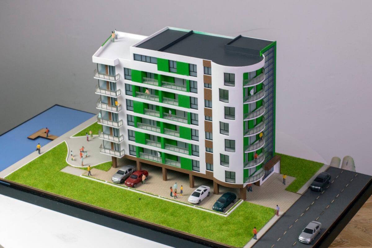 apartment building 3d scale model
