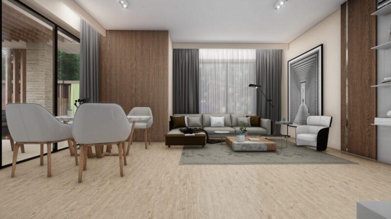 3d rendering house interior