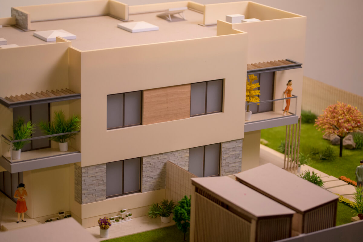 Architecture scale model house