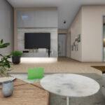 Interior design in photorealistic render