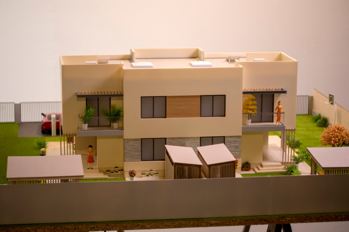 Miniature Residential House Model