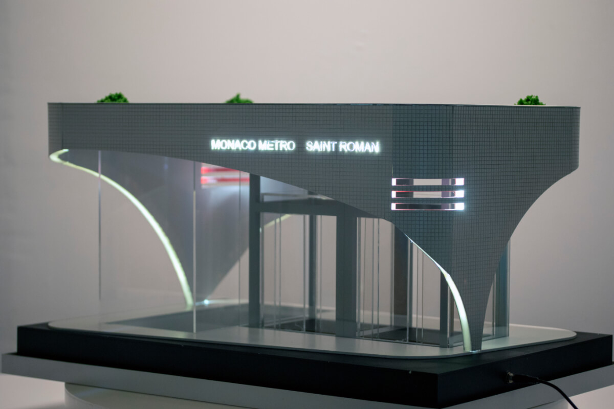 Monaco Subway Entrance Model