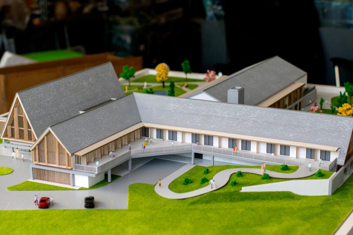 Retirement Village architectural scale models