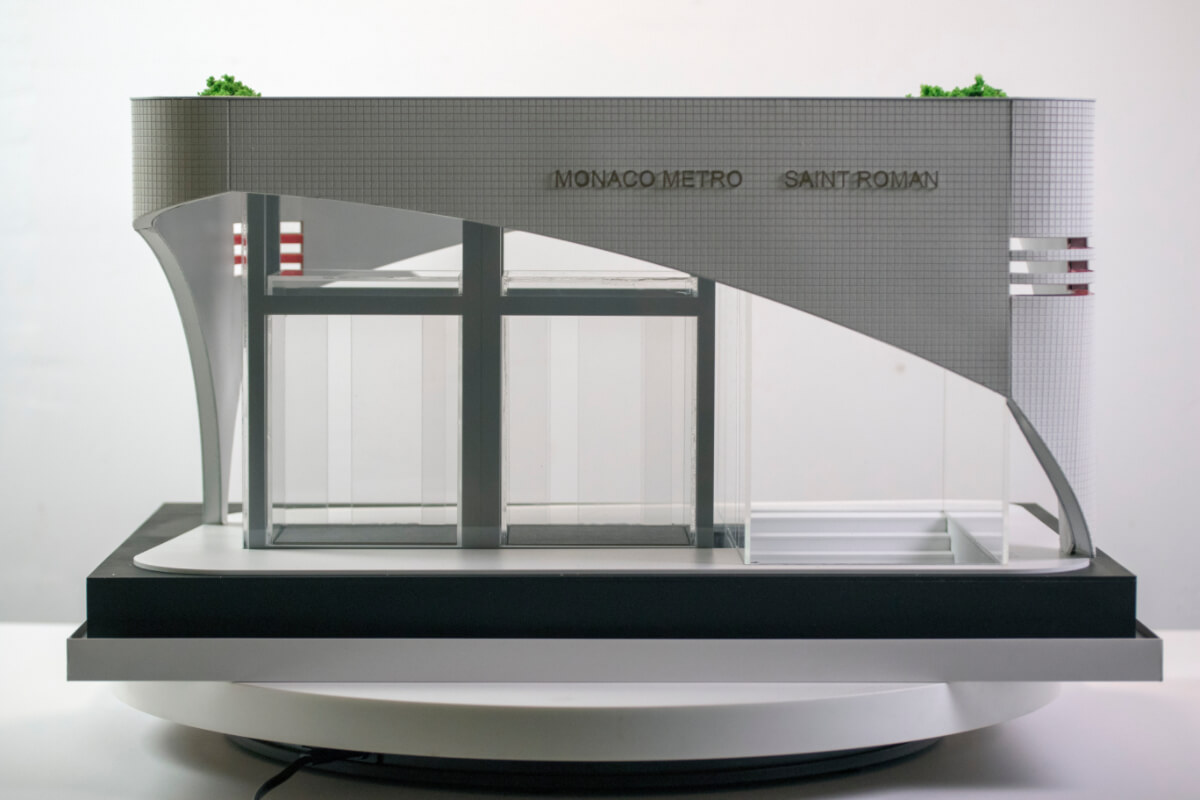 Scale Model of Metro entrance France