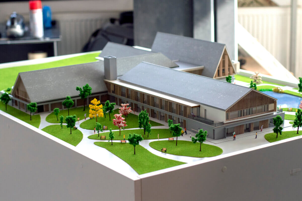 Senior Village architectural scale models