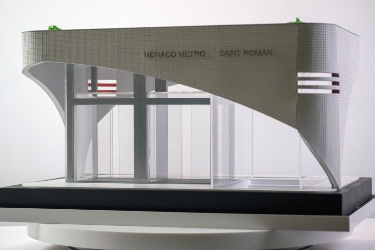 Subway Entrance Scale model